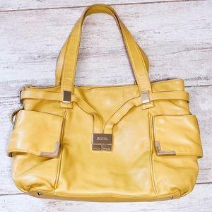 Michael Kors MUSTARD YELLOW Beverly drawstring bag